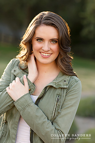 Senior pictures in a lavender field, back light, roseville by Colleen Sanders Photography.