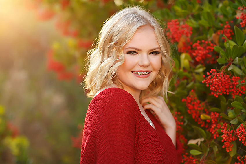 Oak Ridge high school senior Cailin in fall senior pictures by El Dorado hills photographer Colleen Sanders.