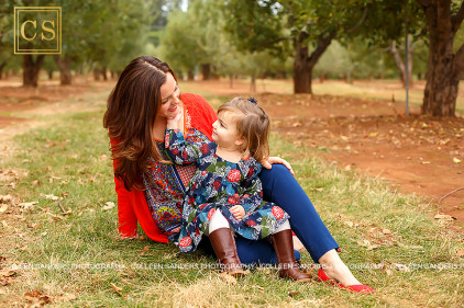 El Dorado Hills family portraits by Colleen Sanders at Apple Hill apple orchard