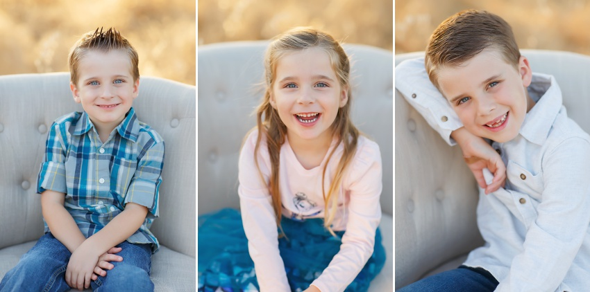Fall family pictures in Folsom with El Dorado Hills photographer Colleen Sanders grasses oak trees golden light kids family fall mini sessions. cute kids